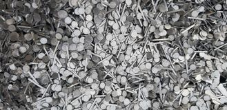 Silver glossy metal waste for a good background stock photo