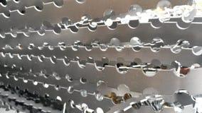 Silver shine metal stock photography