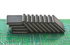 Pile of microchips Stock Images