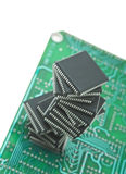 Pile of microchips Stock Photo