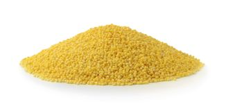 Pile of millet isolated on white Stock Photos
