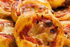 Pile of mini pizzas Royalty Free Stock Photo