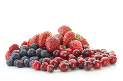 Pile of mixed berries Stock Image