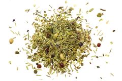 Pile of mixed herbs Royalty Free Stock Images