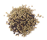Pile of mixed peppercorn isolated Royalty Free Stock Photo