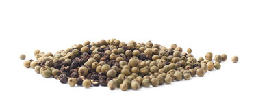 Pile of mixed peppercorn isolated Royalty Free Stock Photos