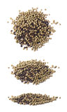 Pile of mixed peppercorn isolated Stock Photos
