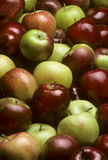 Pile of mixed varieties of apples stock photos