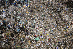 Pile of mixed waste at the dumpsite storage Royalty Free Stock Photo