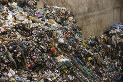 Pile of mixed waste at the dumpsite storage Stock Image