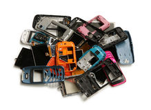 Pile of mobile phone scrap Royalty Free Stock Photo