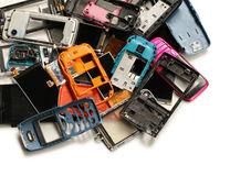 Pile of mobile phone scrap Stock Photo