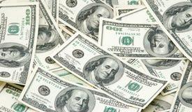 Pile of Money. Hundred dollar bills piled together Stock Image