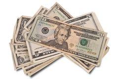 Pile of money royalty free stock photos
