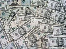 Pile of Money. Pile of twenty dollar bills Royalty Free Stock Images