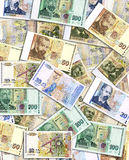 Pile of money. A big amount of bulgarian money Royalty Free Stock Images