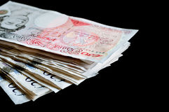 Pile of money british pounds sterling gbp for finance Stock Photography