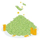 Pile of money coin Stock Image