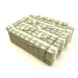 Pile of money. A 3d rendering of a pile of 100 dollars stack royalty free illustration
