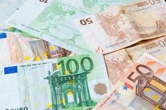 Pile of money Euros for business and finance Stock Images