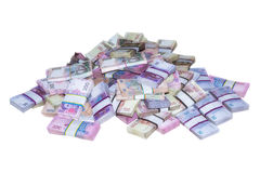Pile of money packs Ukrainian Royalty Free Stock Photo