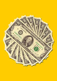 Pile of money stacked Stock Image