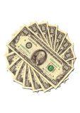 Pile of money stacked Stock Photo