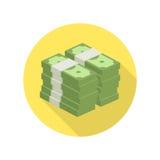 Pile of money vector icon. stock illustration