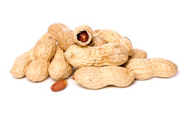 Pile of monkey nuts cut out Stock Photos