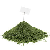 Pile of moss with tag. Stack of moss with a tag for message Royalty Free Stock Images
