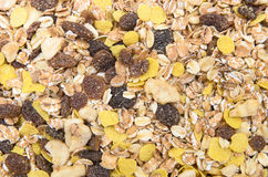 A pile of muesli breakfast food as food. Background Stock Photos