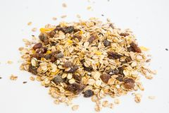 Pile of muesli Royalty Free Stock Images