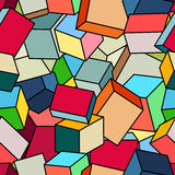 Pile of multi-colored cubes. Royalty Free Stock Image