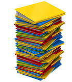 A pile of multi-colored folders with documents Royalty Free Stock Photos