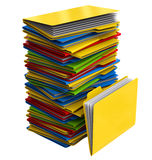 A pile of multi-colored folders with documents Stock Photos