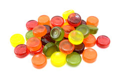 Pile of multi-coloured boiled sweets Royalty Free Stock Photography