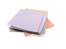 Pile of multi-coloured office paper Stock Photos