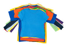 Pile multicolore de vêtements Image libre de droits