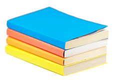 Pile of multicolored books. On white background Royalty Free Stock Photography