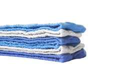 Pile of multicolored knitted clothes Stock Photos