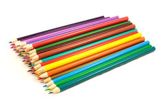 Pile of multicolored pencils Royalty Free Stock Photo