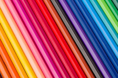 Pile of  multicolored pencils Stock Photos