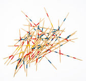Pile of multicolored sticks Royalty Free Stock Photos