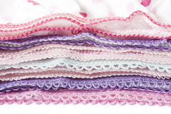 Pile of multicolored underwear clothes with lace Stock Photography