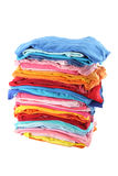 Pile of multiple color cloths Royalty Free Stock Photos