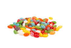 Pile of multiple colorful jelly bean candy sweets Royalty Free Stock Images