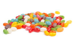 Pile of multiple colorful jelly bean candy sweets Stock Photo
