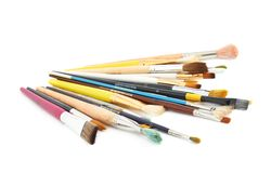 Pile of multiple different brushes Royalty Free Stock Image