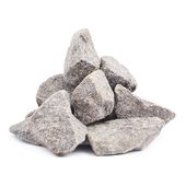 Pile of multiple granite stones isolated Royalty Free Stock Photos