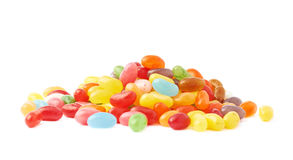 Pile of multiple jelly bean candies Royalty Free Stock Images